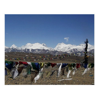 Tibetan Plateau high point on way to Kailash Poster