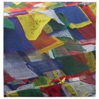 Tibetan Prayer Flags At Boudhanath Stupa Nepal Napkin