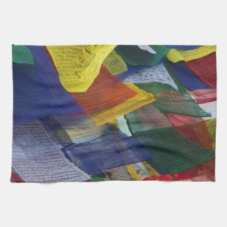 Tibetan Prayer Flags At Boudhanath Stupa Nepal Towel