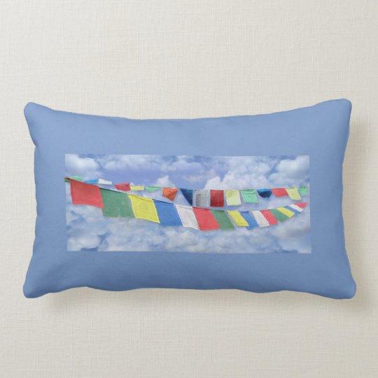 Tibetan Prayer Flags Lumbar Pillow