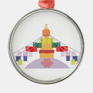 Tibetan Prayer Flags Metal Ornament