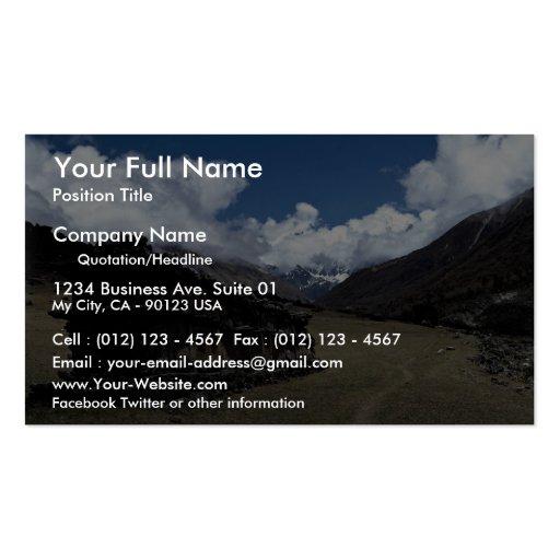 Tibetan prayer wall, Langtang Valley, Himalayas, N Business Card Template