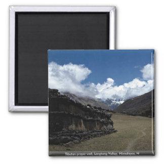 Tibetan prayer wall, Langtang Valley, Himalayas, N Refrigerator Magnets