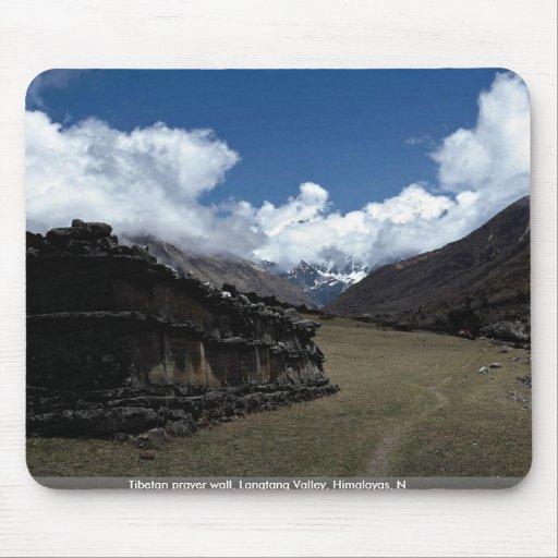 Tibetan prayer wall, Langtang Valley, Himalayas, N Mouse Pad