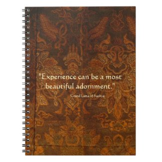 Tibetan Quote Brown Monks Robe Spiral Notebook