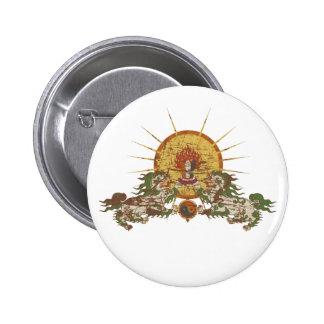 Tibetan Snow Lion Button