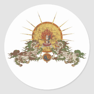 Tibetan Snow Lion Classic Round Sticker