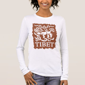 Tibetan Snow Lion Women's Long Sleeved T-Shirt