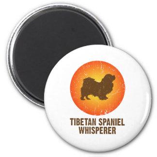 Tibetan Spaniel 2 Inch Round Magnet