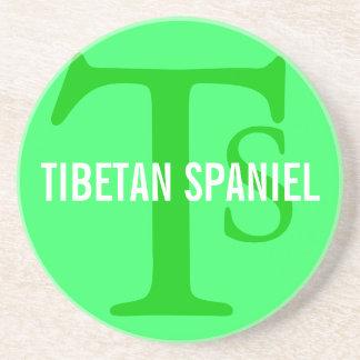 Tibetan Spaniel Breed Monogram Drink Coasters