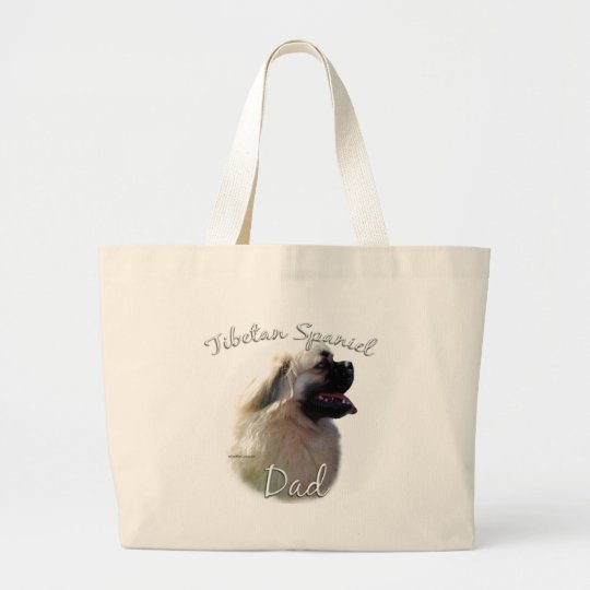 Tibetan Spaniel Dad 2 Large Tote Bag