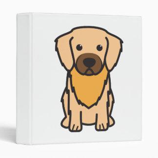 Tibetan Spaniel Dog Cartoon 3 Ring Binder