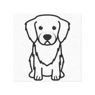 Tibetan Spaniel Dog Cartoon Stretched Canvas Print