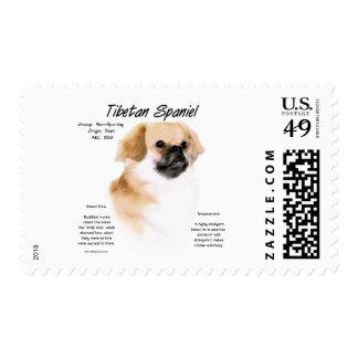 Tibetan Spaniel History Design Postage Stamps