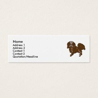 Tibetan Spaniel Mini Business Card