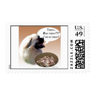 Tibetan Spaniel Turkey Postage Stamp