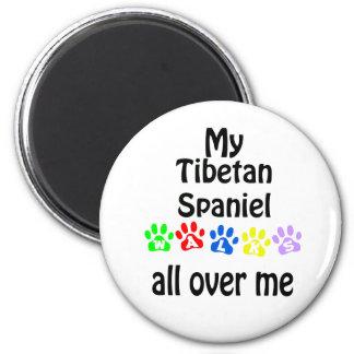 Tibetan Spaniel Walks Design Magnet