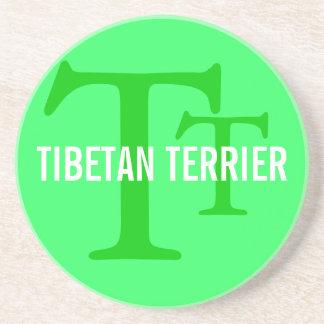 Tibetan Terrier Breed Monogram Beverage Coasters