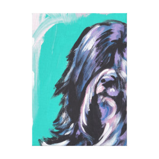 Tibetan Terrier Bright Colorful Pop Dog Art Stretched Canvas Print