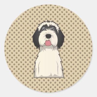 Tibetan Terrier Cartoon Classic Round Sticker