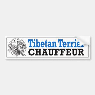 Tibetan Terrier Chauffeur Bumper Stickers