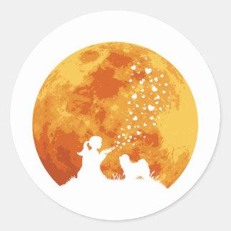 Tibetan Terrier Classic Round Sticker
