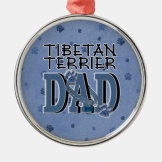 Tibetan Terrier DAD Christmas Ornaments