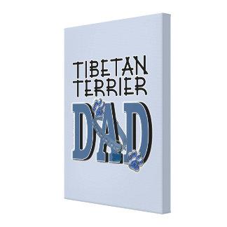 Tibetan Terrier DAD Gallery Wrap Canvas