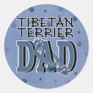 Tibetan Terrier DAD Round Stickers