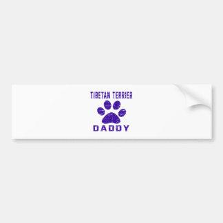 Tibetan Terrier Daddy Gifts Designs Bumper Sticker