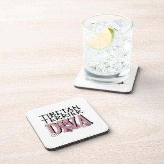 Tibetan Terrier DIVA Beverage Coaster