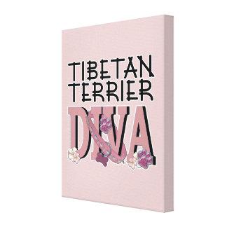 Tibetan Terrier DIVA Canvas Print
