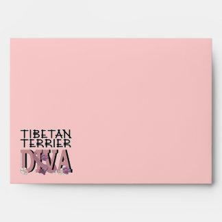 Tibetan Terrier DIVA Envelope