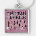 Tibetan Terrier DIVA Key Chains