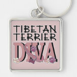 Tibetan Terrier DIVA Keychains