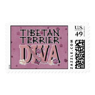 Tibetan Terrier DIVA Stamps