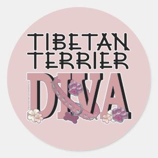 Tibetan Terrier DIVA Stickers