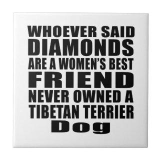 TIBETAN TERRIER DOG BEST FRIEND DESIGNS TILE