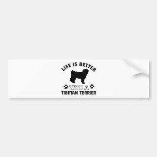 Tibetan Terrier dog breed designs Bumper Sticker