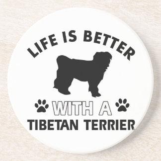Tibetan Terrier dog breed designs Drink Coasters