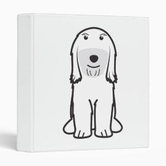 Tibetan Terrier Dog Cartoon Binder
