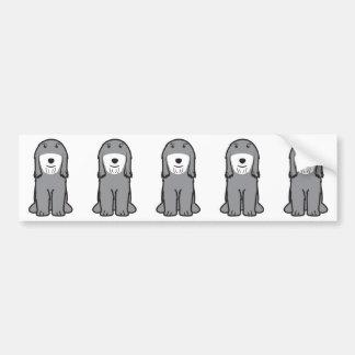 Tibetan Terrier Dog Cartoon Bumper Sticker