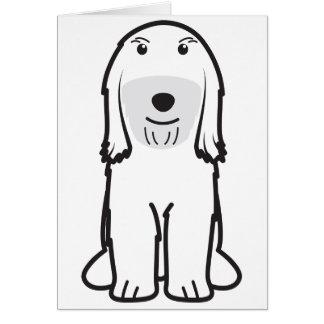Tibetan Terrier Dog Cartoon Card
