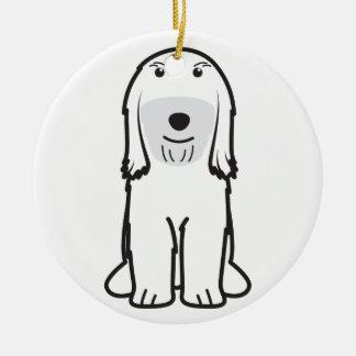 Tibetan Terrier Dog Cartoon Ceramic Ornament