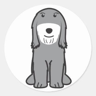 Tibetan Terrier Dog Cartoon Classic Round Sticker