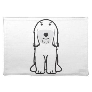 Tibetan Terrier Dog Cartoon Cloth Placemat