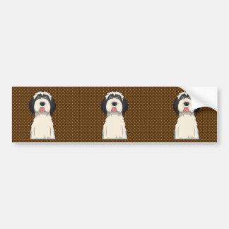 Tibetan Terrier Dog Cartoon Paws Bumper Stickers