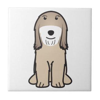 Tibetan Terrier Dog Cartoon Tile