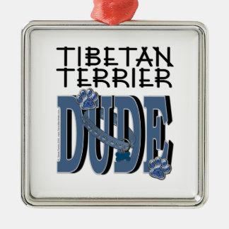 Tibetan Terrier DUDE Christmas Tree Ornaments