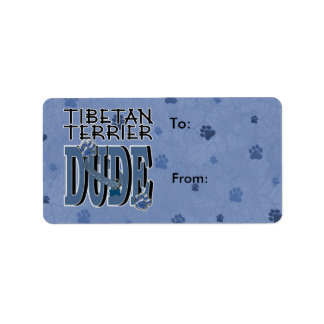 Tibetan Terrier DUDE Label